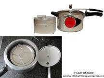 Pressure cooker with seperators
