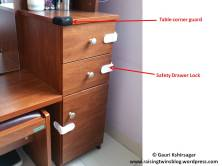 Baby proofing : Table corner guard & safety drawer lock