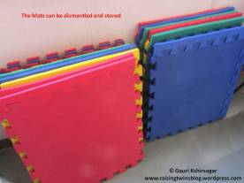 Dismantled Interlocking mats