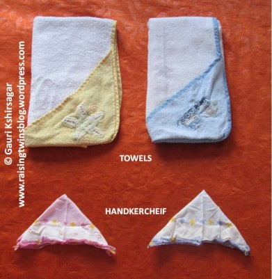 Baby Clothes: Towels and Handkercheif