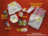 Contents of diaper changing kit