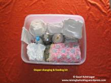 Diaper changing kit