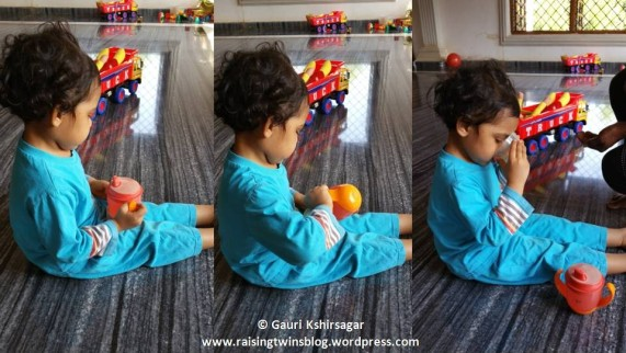 Toddler can also pour the water in a cup and drink which makes drinking water an activity and fun