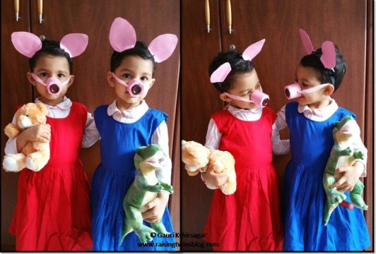 Diy activity 10 peppa pig and george costume ideas raising twins please do like the post if you found it to be usefulyour comments suggestions criticism and all opinions are very much appreciated solutioingenieria Gallery